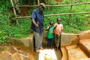 The Water Project: Asimuli Community, John Omusembi Spring -  John Omusembi With Kids At Spring