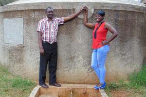 The Water Project: Lwanda Secondary School -  Mr Ambunya And Field Officer Jemmimah Khasoha