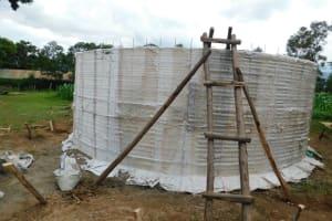 The Water Project: Kimangeti Primary School -  Rain Tank Walls Form