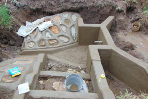 The Water Project: Shihungu Community, Shihungu Spring -  Staircase Construction
