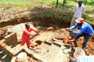 The Water Project: Lutonyi Community, Lutomia Spring -  Brick Toss