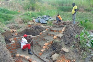 The Water Project: Sasala Community, Kasit Spring -  Construction Continues