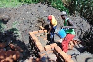 The Water Project: Buyangu Community, Osundwa Spring -  Brickwork