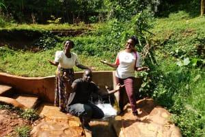 The Water Project: Shirakala Community, Ambani Spring -  Rhoda Titus And Jacklyne Are All Smiles