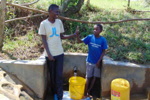 The Water Project: Mungaha B Community, Maria Spring -  High Five For Clean Water