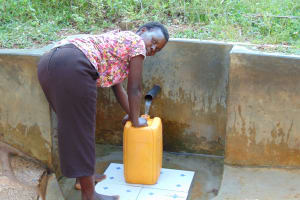 The Water Project: Upper Visiru Community, Wambosani Spring -  Mary Fetches Water