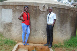 The Water Project: Lwanda Secondary School -  Field Officer Jemmimah And Renson