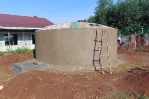 The Water Project: Magaka Primary School -  Dome Work Underway