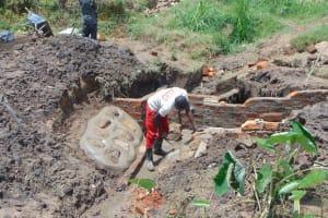 The Water Project: Sasala Community, Kasit Spring -  Rub Wall Construction