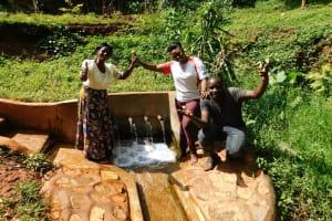 The Water Project: Shirakala Community, Ambani Spring -  Rhoda Jacklyne And Titus Are All Smiles