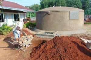 The Water Project: Magaka Primary School -  Finishing The Seepage Pit