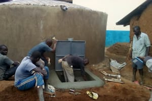 The Water Project: Friends Primary School Givogi -  Tap And Manhole Area Construction