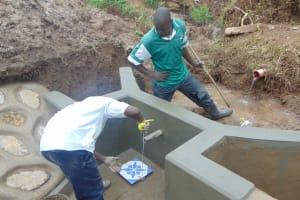 The Water Project: Shihungu Community, Shihungu Spring -  Pipe Measurements