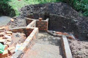 The Water Project: Buyangu Community, Osundwa Spring -  Stairs And Spring Take Shape
