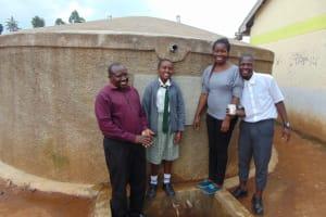 The Water Project: Precious School Kapsambo Secondary -  All Smiles At The Rain Tank
