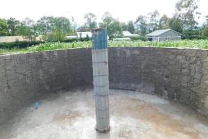 The Water Project: Kimangeti Primary School -  Main Pillar To Support Dome
