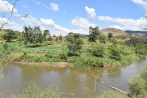 The Water Project: Masola Community A -  Water Behind Dam And Thriving Farms
