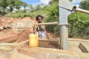 The Water Project: Karuli Community D -  Fetching Water
