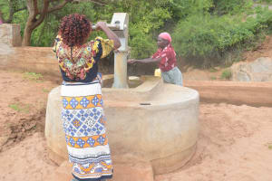 The Water Project: Karuli Community D -  Filling Up At The Well A Year Later