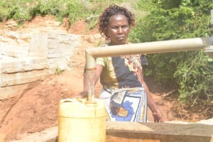The Water Project: Karuli Community D -  Filling Up Container At The Well