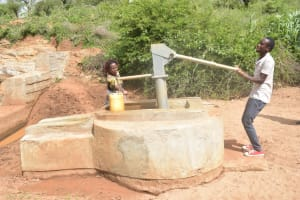 The Water Project: Karuli Community D -  Pumping The Well