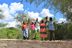 The Water Project: Maluvyu Community F -  High Fives For The New Dam