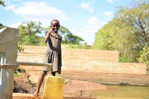 The Water Project: Masaani Community -  Thumbs Up For Easy Access To Water