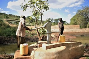 The Water Project: Masaani Community -  Well And Dam A Year Later