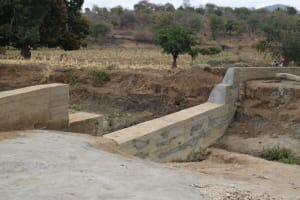The Water Project: Kaukuswi Community -  Completed Sand Dam