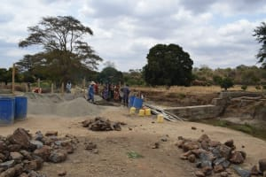 The Water Project: Kaukuswi Community -  Dam Construction Phase Four