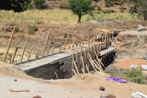 The Water Project: Kaukuswi Community -  Dam Construction Phase Three
