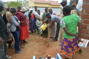 The Water Project: Kaukuswi Community -  Handwashing Demonstration