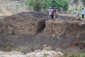 The Water Project: Kaukuswi Community -  Trenching