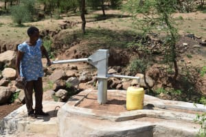 The Water Project: Maluvyu Community G -  At The New Well