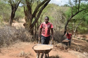 The Water Project: Maluvyu Community G -  Hauling Sand