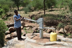 The Water Project: Maluvyu Community G -  Pumping The New Well