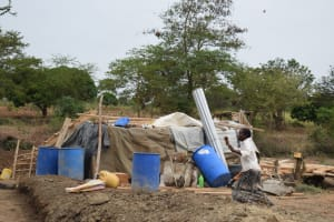 The Water Project: Kaukuswi Community A -  Building Materials