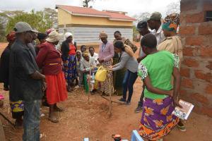 The Water Project: Kaukuswi Community A -  Handwashing Demonstration