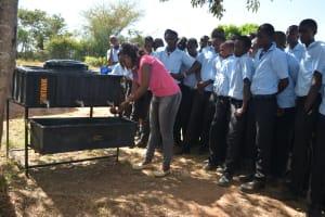 The Water Project: Kyamatula Secondary School -  Handwashing Demonstration