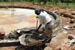 The Water Project: Kyamatula Secondary School -  Tank Construction