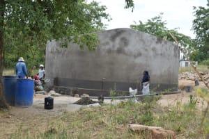 The Water Project: Kyamatula Secondary School -  Tank Nearly Complete