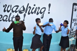 The Water Project: Kyamatula Secondary School -  Thumbs Up From Water From The Tank