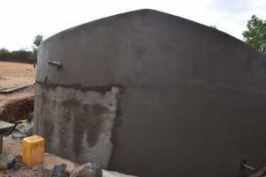 The Water Project: Kamulalani Primary School -  Finishing Up Tank
