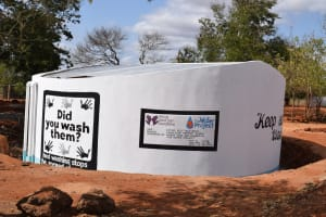 The Water Project: Kamulalani Primary School -  Painted Tank