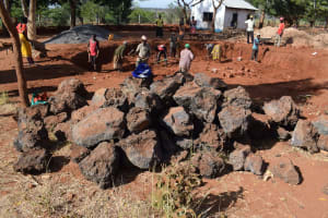 The Water Project: Kamulalani Primary School -  Rocks For Construction