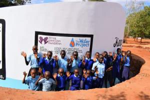 The Water Project: Kamulalani Primary School -  Students At The Tank