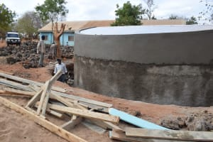 The Water Project: Kamulalani Primary School -  Tank Nearing Completion
