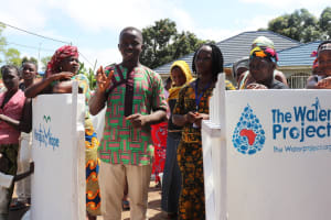 The Water Project: 45 Main Motor Road, The Redeemed Christian Church of God -  Church Pastor Making Statement