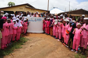The Water Project: Lungi, Rotifunk, King Fuad Hafis Islamic School -  Community Members And Students Celebrate The Well