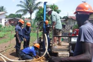 The Water Project: Lungi, Rotifunk, King Fuad Hafis Islamic School -  Drilling